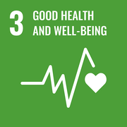 logo dell'Obiettivo di sviluppo sostenibile 3 salute